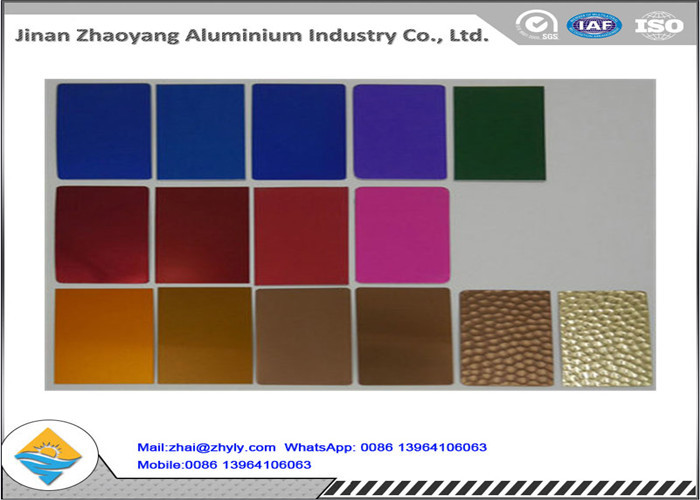 Anodized Finish 1050 1060 1100 Aluminum Sheet Rust Resistant For Tags / Nameplate